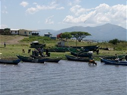 Shore line at Lake Victoria