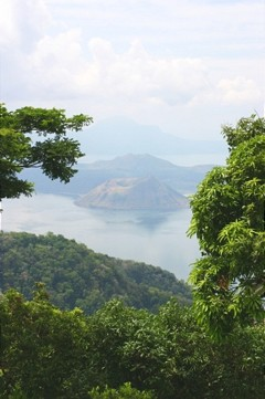 Taal Lake with vegetation