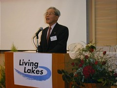 Kuniumatsu-san, governor of the Shiga Prefecture, opened the Conference in Japan.