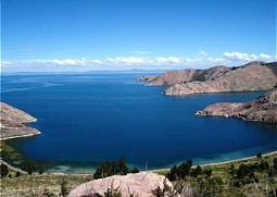 Peninsulas in Lake Titicaca