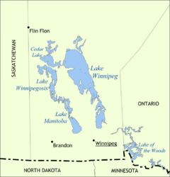 Lake Winnipeg in the Canadian province Manitoba