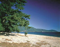 The White beach of Omatsuzaki, Biwa Lake