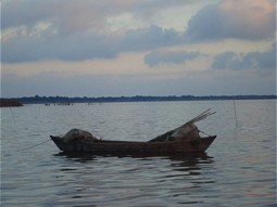 Traditional boat of fisherman