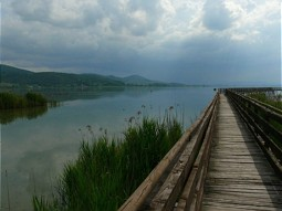 Footbridge at Lake Trasimeno