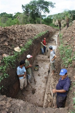 Construction of the canal for the greenfilter