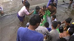 Successful rescue of a Irrawaddy Dolphin in 2009