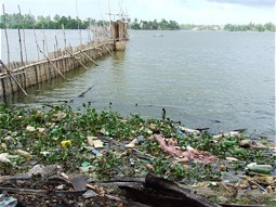 One of the problems: uncontrolled waste desposit at the shore line