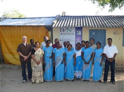 The project team in India