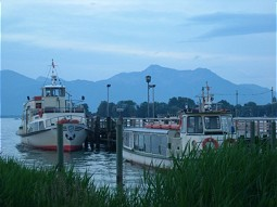 Boats at the Chiemsee in Germany