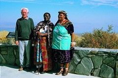 Gerhard Thielcke with Credo Mutwa, a spiritual leader of the Zulu and his wife.