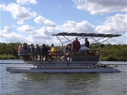 Field trip with a solar powered boat.