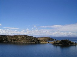Islands in the south of Lake Titicaca