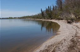 Shore line of Lake Winnipeg