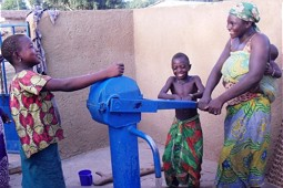 Drinking water well in Ivory Coast.