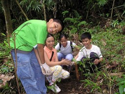 Tree planting with Kids and youth in the watershed