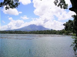 Lake Sampaloc with Mount Cristobal in background
