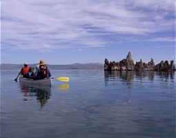 Canoeing on Mono Lake